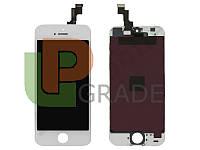 Дисплей для iPhone 5S + touchscreen, белый, копия
