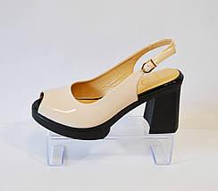 Босоножки женские пудра на каблуке Lottini 3050, фото 2