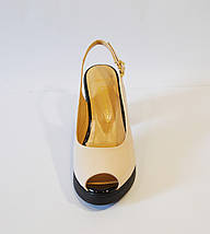 Босоножки женские пудра на каблуке Lottini 3050, фото 3