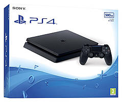 Sony PlayStation 4 (PS4) Slim 500GB + игра: Uncharted 4