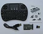 Беспроводная мини клавиатура USB с тачпадом на аккумуляторе, фото 6