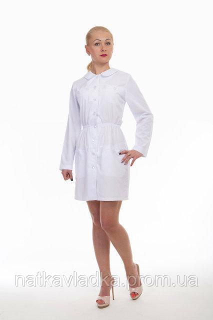Женский медицинский халат белый р.40-50, фото 1