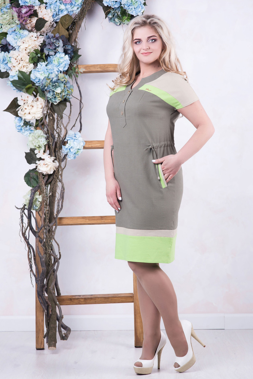 Платье из льна Марти 50 размер