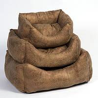 Лежак Природа Рикки 1, кашемир и замша, 40х25х20 см