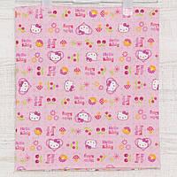 Пеленки тканевые для девочек, Китти, простые ситцевые в роддом ,  90x100см.