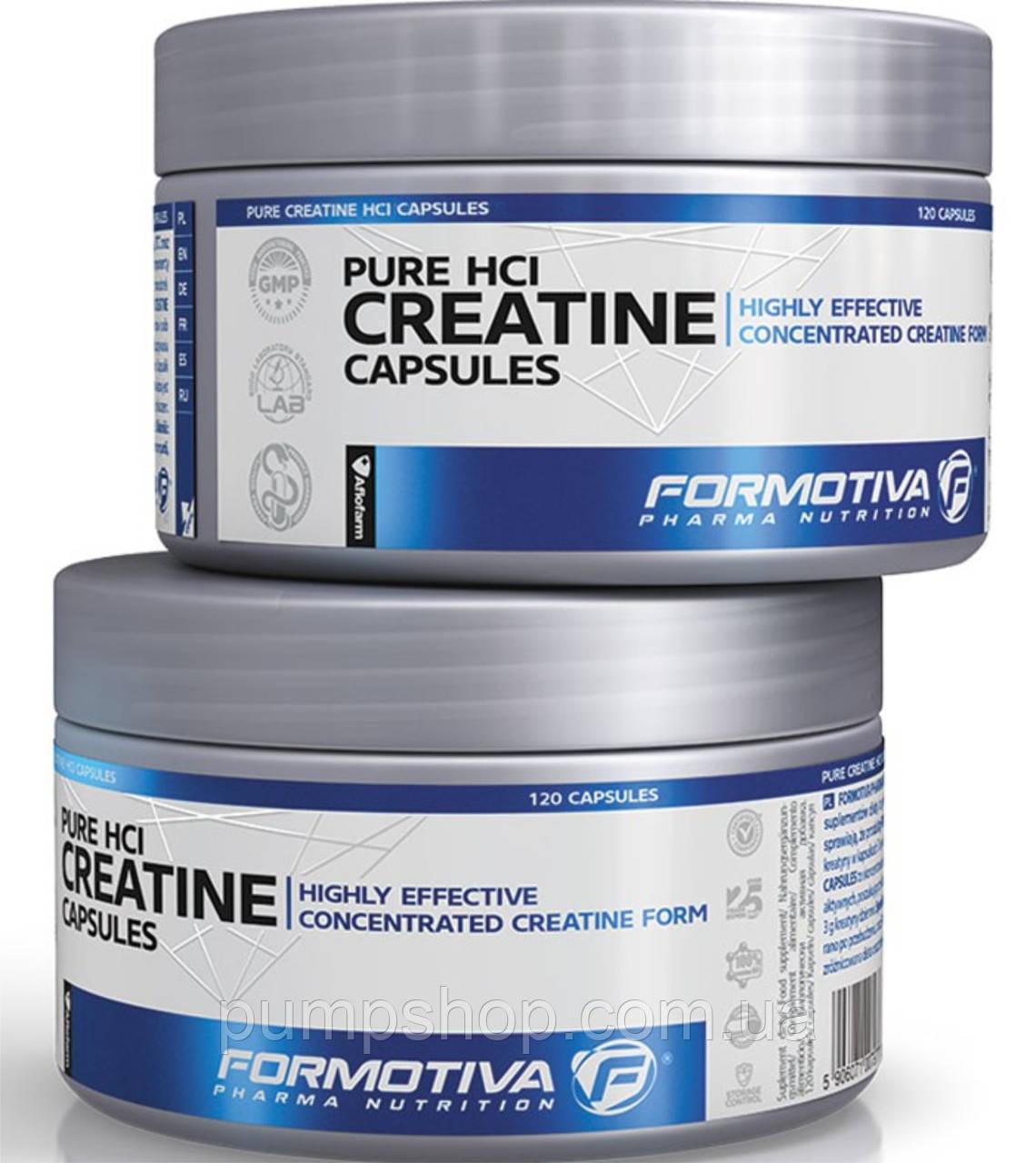 Креатин гидрохлорид Formotiva Pure Hcl Creatine -120 капсул