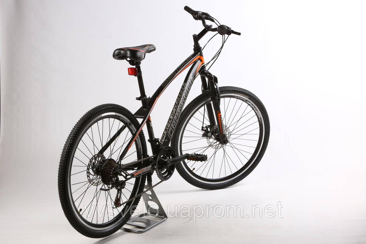 """Велосипед CROSSRIDE WESTSIDE 24"""" 13"""" Черный/Оранжевый"""