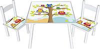 Набор стол со стульями совы Wise Owl Head