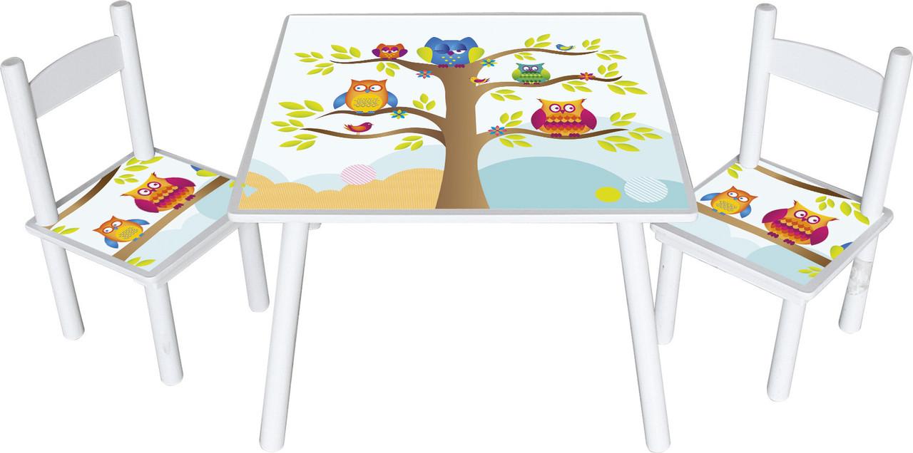 Набор стол со стульями совы Wise Owl Head - Svit Kazok  в Львове