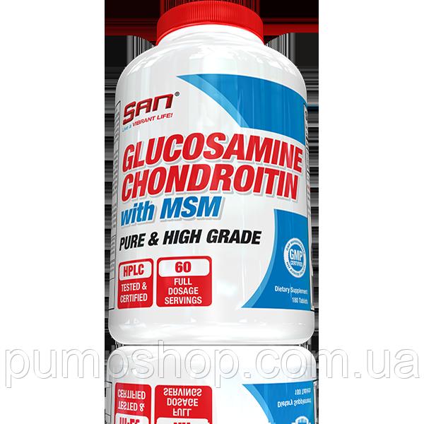 Для суглобів і зв'язок San Nutrition Glucosamine Chondroitin with MSM 90 капс.