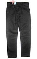 Брюки-джинсы черные детские теплые 28