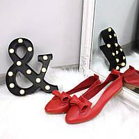 Туфли балетки женские Ritta красные , балетки женские