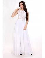 56eebc63777 Свадебное платье из шифона с гипюром G2100 (р.34-42euro)