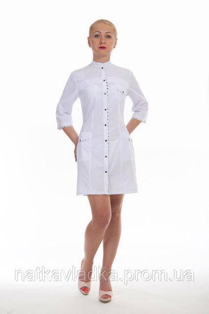Женский медицинский халат белый р.42-56, фото 1