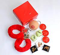 Набор с наручниками  для влюбленных 6 предметов.