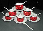 Чашка с Вашим дизайном фарфоровая кофейная с блюдцем и ложечкой, фото 4