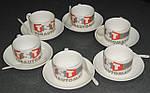 Чашка с Вашим дизайном фарфоровая кофейная с блюдцем и ложечкой, фото 5
