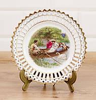 Декоративная кружевная фарфоровая тарелка, фарфор, Германия , фото 1