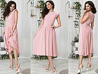 Платье летнее ниже колен. крой свободный, ткань штапель , 3 расцветки фото реал ммаж №078-350