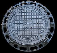 Люк канализационный чугунный тяжелый с запорным устройством класс С250
