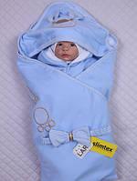 """Детский конверт-одеяло """"Мишутка"""", голубой, (лето), фото 1"""