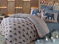 Комплект постельного белья евро Fil голубой, ранфорс