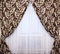 Богатый комплект  шторы в гостиную в Украине