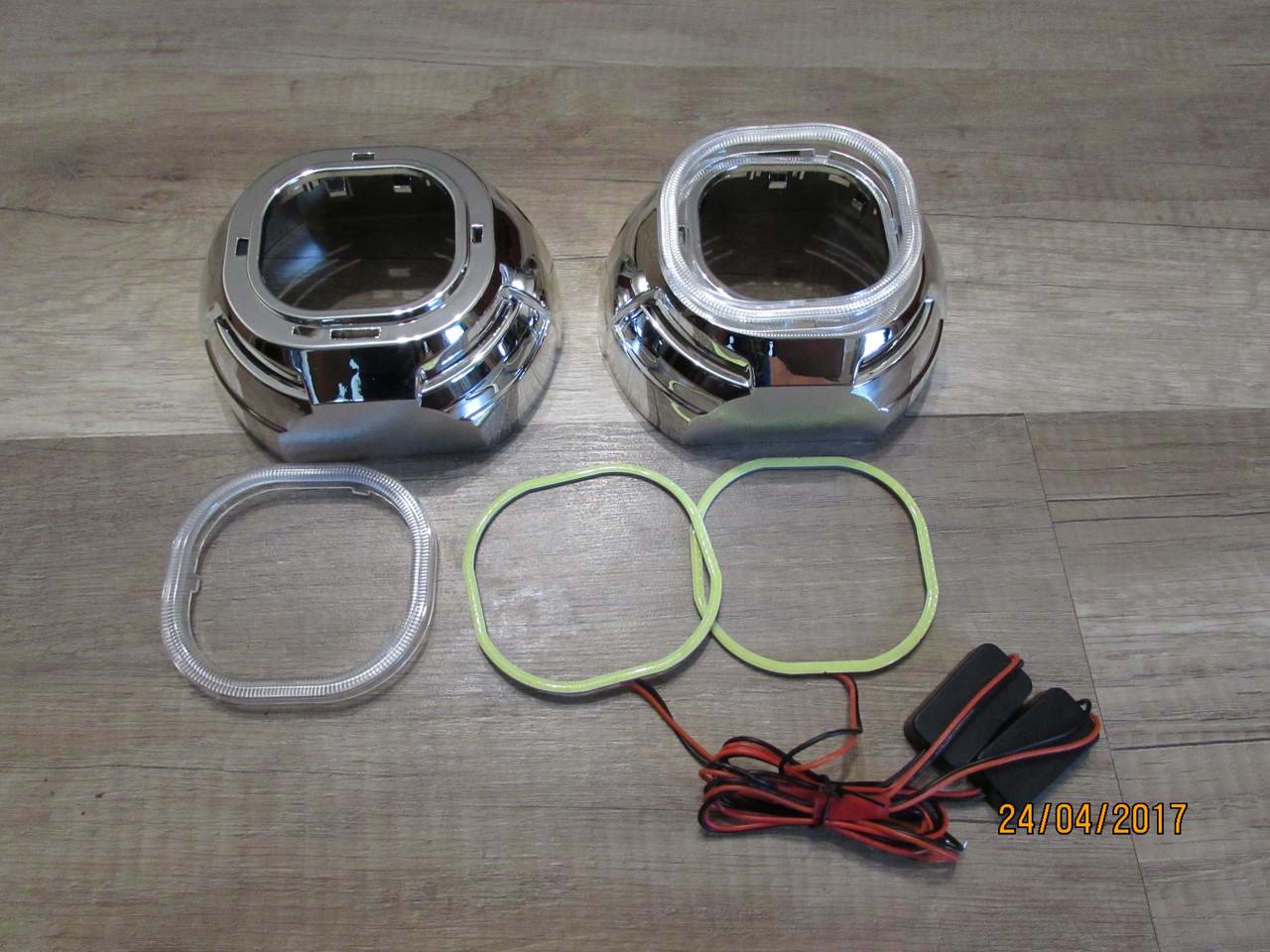 Маски для квадратных линз G6 SQR / Koito Q5 SQR - Ky с глазами COB