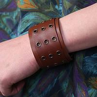 Оригинальный кожаный браслет «Прерия»