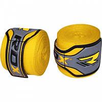 Бинты боксерские RDX Fibra Yellow 4.5m