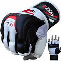 Снарядные перчатки битки кожаные RDX Leather S черный с белым