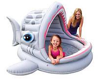 """Бассейн детский надувной """"Акула"""" Intex 57120 (201х198х109 см) с навесом"""