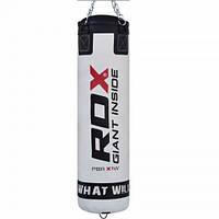 Боксерський мішок RDX Leather White 1.5 м, 45-55 кг