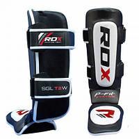 Накладки на ноги с защитой голени кожаные RDX Leather XL белый с черным