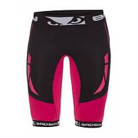 Компрессионные шорты женские Bad Boy Compression Shorts Black/Pink XS