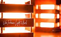 Настольный декоративный светильник-ночник из дерева Via.Light Uriel