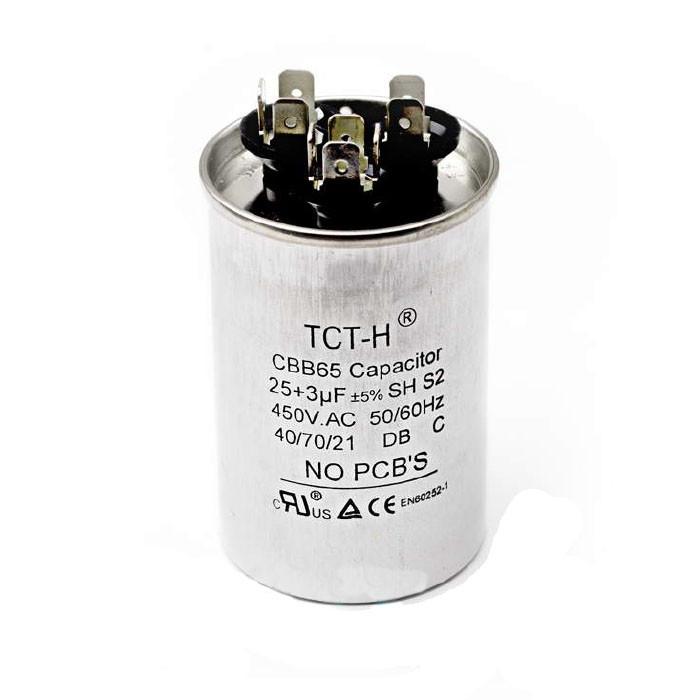 Конденсатор кондиціонера для CBB65 25+3 mF