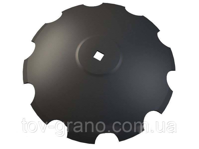 Диск бороны Gregoire Besson D-660 мм, квадрат 41, толщина 6мм.