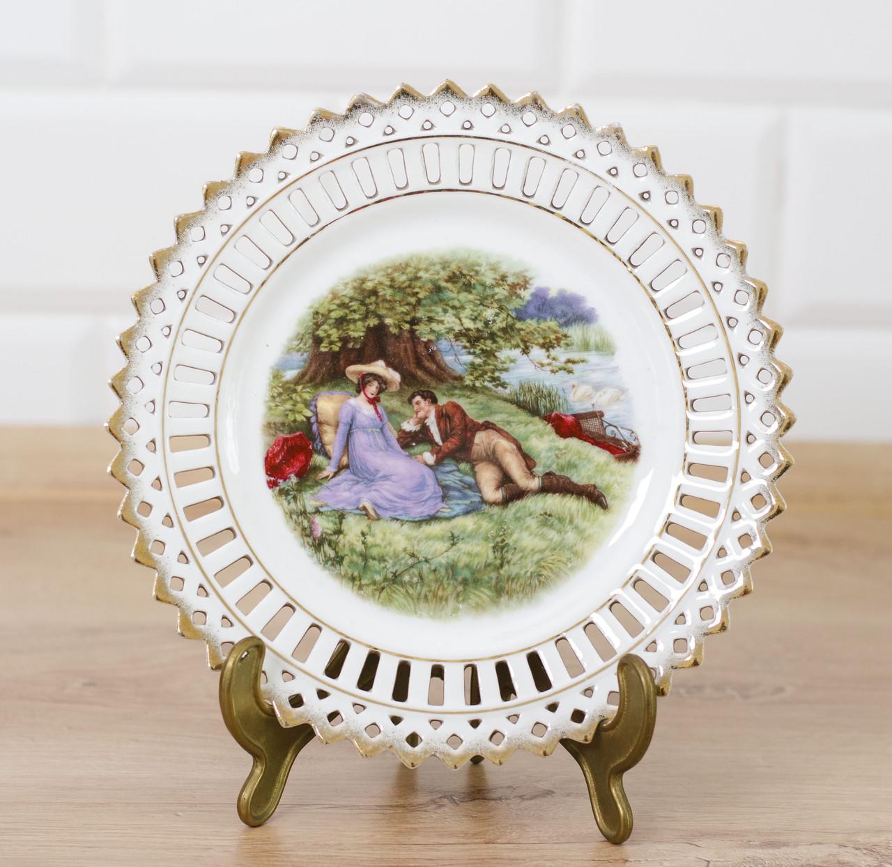 Декоративная кружевная фарфоровая тарелка, фарфор, Германия