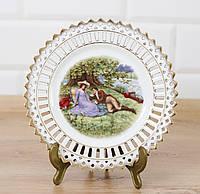 Декоративная кружевная фарфоровая тарелка, фарфор, Германия, фото 1