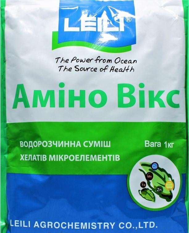 Биостимулятор роста Амино Викс (1 кг) — cмесь микроэлементов Zn,Fe,Cu,Mn хелатированных комплексом аминокислот