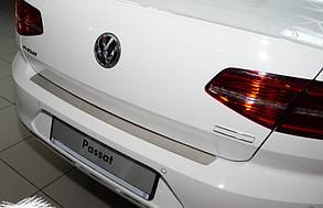 Накладка на задній бампер VW Passat B8 (без загину) нержавіюча сталь