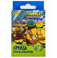 "Мел цветной круглый 12 шт. ""Ninja Turtles"" 400175"
