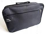 Мужская сумка барсетка через плечо простая и надежная папка портфель А4 в2600 черная 34,5х23,5х10см, фото 2
