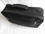 Мужская сумка барсетка через плечо простая и надежная папка портфель А4 в2600 черная 34,5х23,5х10см, фото 5