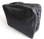 Мужская сумка барсетка через плечо простая и надежная папка портфель А4 в2600 черная 34,5х23,5х10см, фото 6