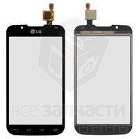 Тачскрин (сенсор) для мобильного телефона LG P715 Optimus L7 II, черный