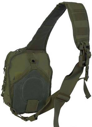 Рюкзак однолямочный через плечо 8,5л MilTec Assault оливковый 14059101, фото 2