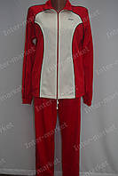 Женский спортивный костюм на замке красно-белый