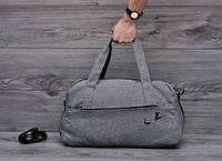 Спортивная сумка M043 большая (50 см х 30 см х 25 см) багажная дорожная из полиэстера плечевой ремень серый